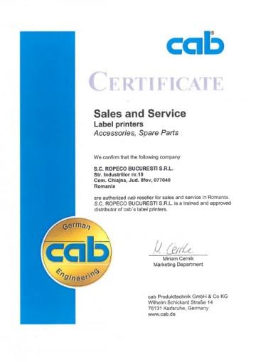 Certificat CAB