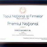 ROPECO, LOCUL 1 la nivel national , premiata in cadrul Galei Topului National al Firmelor 2017